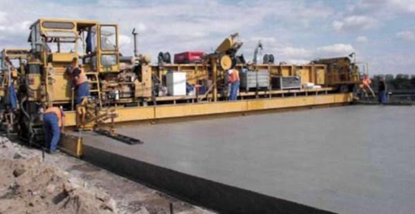 Выравнивание готового бетонного покрытия